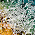Leeuwarden Netherlands City Map by Michael Tompsett