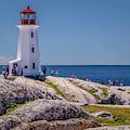 Peggys Cove Lighthouse by Ken Morris