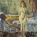The Death Of Marat II  by Edvard Munch