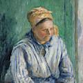 Washerwoman  Study  by Camille Pissarro
