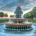 Pineapple Sunset Over Charleston South Carolina by Dale Powell
