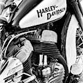 47 Harley Flathead Monochrome by Tim Gainey