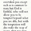 1 Corinthians 10 13- Inspirational Quotes Wall Art Collection by Mark Lawrence