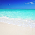 Clean White Caribbean Beach With Blue by Michaelutech