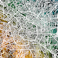 Milan Italy City Map by Michael Tompsett