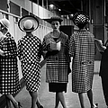 5 Models Wearing Fashionable Dress by Nina Leen