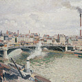 Morning  An Overcast Day  Rouen  by Camille Pissarro
