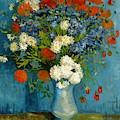Vase With Cornflowers And Poppies by Vincent Van Gogh