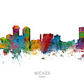 Wichita Kansas Skyline by Michael Tompsett