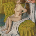 Woman Having Her Hair Combed  by Edgar Degas