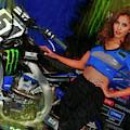 51 Justin Barcia Bam Bam Bike Monster Energy Girl by Blake Richards