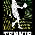 Tennis Player Tennis Racket I Love Tennis Ball by TeeQueen2603