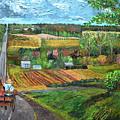 6n Between Waterford And Edinboro Pennsylvania by Anne Cameron Cutri