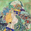Baby  Cradle by Gustav Klimt