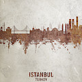 Istanbul Turkey Skyline by Michael Tompsett