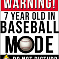 7 Year Old In Baseball Mode by Jose O