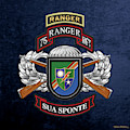 75th Ranger Regiment - Army Rangers Special Edition Over Blue Velvet by Serge Averbukh