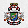 75th Ranger Regiment - Army Rangers Special Edition Over White Leather by Serge Averbukh