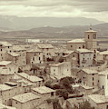 Beautiful Medieval Spanish Village In Sepia Tone by Vicen Photography
