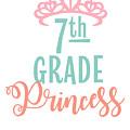 7th Grade Princess Adorable For Daughter Pink Tiara Princess by Cameron Fulton