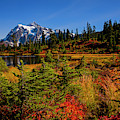 Autumn Colors With Mount Shuksan by Jim Corwin
