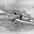 A-10 Drawing by Douglas Castleman
