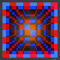A 2d Celluloid Crystal Stack  2 by Walter Neal