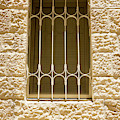 A Barred Window In The Jewish Quarter Of The Old City, Jerusalem by William Kuta