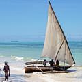 A Dhow In Zanzibar by Kay Brewer