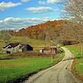 A Farm On An Autumn Day by Angela Murdock