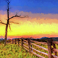 A Gorgeous Blue Ridge Sunrise Ap by Dan Carmichael
