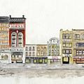 A Greenwich Village Streetscape by Afinelyne