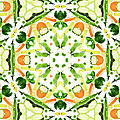 A Kaleidoscope Image Of Fresh Vegetables by Andrew Bret Wallis