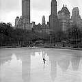 A Lone Skater On Wollman Memorial Rink by New York Daily News Archive