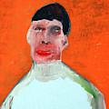 A Man With An Orange Background by Edgeworth DotBlog