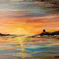 A Moment Of Freedom Ocean And The Sky by Lisa Bunsey