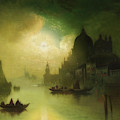 A Moonlit Night Over Venice by Mountain Dreams