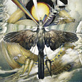 A Painting Alludes To Powers That Might Enable Birds To Migrate. by Barron Storey