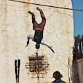 A Pair Of Stuntmen Perform At Old Tucson by Derrick Neill
