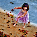 A Purple Dress Beach Day by Blake Richards