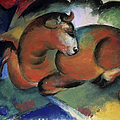 A Red Bull By Franz Marc, Painting by Superstock