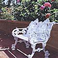 A Shady Rest With Hydrangeas by David Lloyd Glover