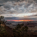 A Stormy Sunset At The Canyon by John M Bailey