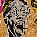 A Terrified Face On A Barcelona Wall  by Funkpix Photo Hunter