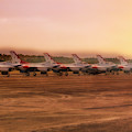 A Thunderbirds Sunrise - Air Force - F-16 by Jason Politte
