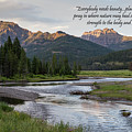 A Tranquil Mountain Creek With Quote by Michael Chatt