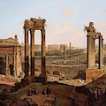 A View Of The Forum Romanum by Jean Victor Louis Faure