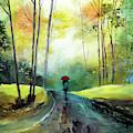 A Walk In The Rain by Anil Nene