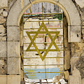 A Window With The Star Of David At King David's Tomb On Mount Zi by William Kuta