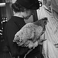 A Woman & Her Chicken Go Shopping by Nina Leen